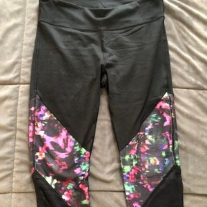 Fabletics Black/Neon High-Waisted Workout Legging